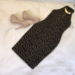 Shoe dazzle Gold shimmery dress